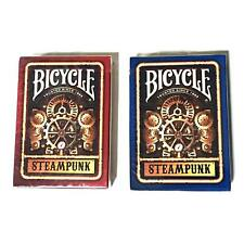 Bicycle Steampunk Playing Cards Lot 2 Red and Blue