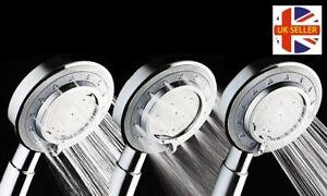 3 Mode Pressure Booster Chrome Shower Head Micro Nozzle Technology
