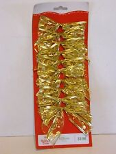 10 Gold Sheer Wired 3.5 Inch Bows Christmas CraftsTree Package Decoration