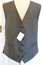 BNWT HACKETT London Travel Cloth Wool Charcoal Grey Waistcoat. Size 42R