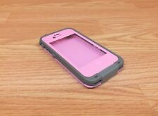 Genuine LifeProof Case Pink & Gray For iPhone 4/4S W/ Headphone Adapter *READ*