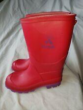 New listing Kamik Stomp Pink Purple Winter Rubber Snow Rain Mud Muck Boots Shoe Size 13