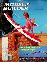 Model Builder Magazine February 1984 '83 World Aerobatic Championship m975