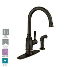 MOEN Noell Single-Handle Standard Kitchen Faucet with Side Sprayer - 87506BRB
