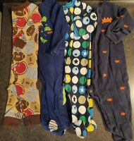 Baby boy~6-9 months~Pajamas~Carter's~Absorba~Circo~Sleeper~Footed~Lot of 4~