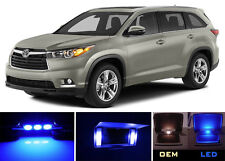 Blue Vanity / Sun visor  LED light Bulbs for Toyota Highlander (4 pieces)