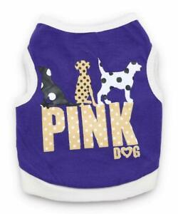 XS S M L Female Small Dog Shirt Boy Dog Cat Vest Clothes Apparel for Chihuahua