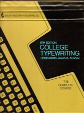 College Typewriting 8th Edition T76 Complete Course Lessenberry, Wanous, Duncan