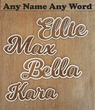 Felix 3mm Birchwood Ply Words Names Letters Arts Craft Plaque Signs