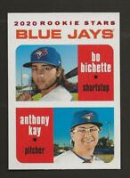 2020 Topps Heritage ANTHONY KAY/BO BICHETTE White Border Rookie /50 Blue Jays 52