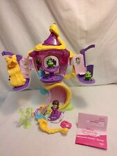 Disney Princess Little Kingdom Rapunzel's Stylin' Tower w/ Wigs Pascal Furniture