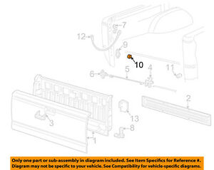 MAZDA OEM 98-07 B3000 Tail Gate Tailgate Hatch-Insert Right ZZM065910