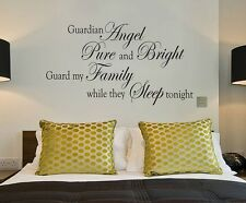 GUARDIAN ANGEL Family Bedroom Wall Art Decal Quote Words Lettering Home Decor