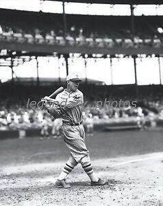 1920's Mel Ott Batting Conlon Photo Produced From Original Negative