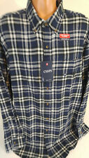 Chaps Mens Flannel Long Sleeve Shirt Size 2XB Big and Tall Blue Plaid