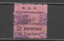 5123-RARO SELLO C.N.T. VICTIMAS DEL FASCISMO 1936,BARCELONA,S.U.R,ALTO VALOR 2 P