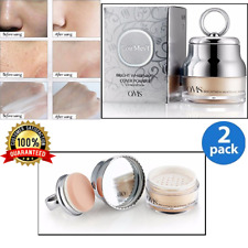 2 X BEST Makeup Face Powder Oil Control Loose Brightness Whitening Cosmetics 40g
