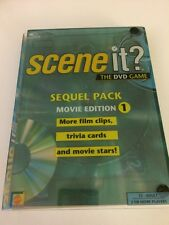 SCENE IT? The DVD Game Sequel Pack Movie Edition 1 100 Trivia Cards, 1 DVD EUC
