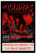 PUNK Rock : The Cramps  at Graffiti Club Concert Poster 1992
