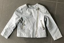 New Girls Faux Leather Jacket 5yrs Pale Blue Star By Julien MacDonald