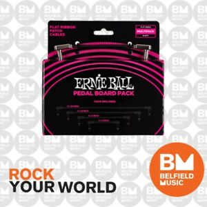 Ernie Ball 6224 Multi-Pack Flat Ribbon Patch Cables Pedalboard - Brand New