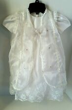 Arodi's Collection Infant Baby Baptism Christening Dress Gown White Size 0