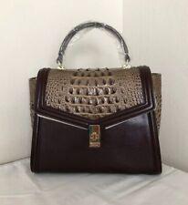 ❤️NWT Brahmin Norland Ingrid COFFEE BROWN Embossed Leather Satchel