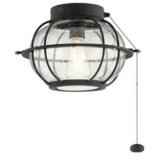 Kichler Bridge Point Fan Light Kit, Distressed Black - 380945DBK