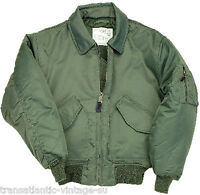 CWU MA2 FLIGHT JACKET MENS BOMBER US PILOT AIRFORCE AVIATION WEAR  US SAGE GREEN
