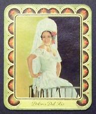 Dolores Del Rio 1934 Garbaty Film Star Series 2 Embossed Cigarette Card #246