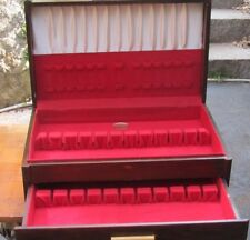 Vintage 1 Drawer Solid Wood  Flatware Chest  Art Deco style