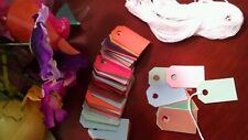 100 hand crafted colorful price tags 85lb card stock  gift tags, 1
