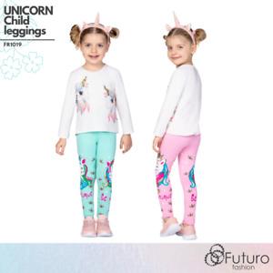 Girl Comfortable Stretchy Leggings Cotton Unicorn Cute Kids Elastic Pants FR1019