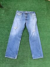 VTG Levi's 501 Distressed Mens Denim Jeans Actual 38 X 32 Tag 42x35  Made In USA