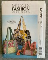 McCall's Misses' Fashion Accessories Bags Fabric material Sewing Pattern #M5822