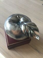 Gianmaria Buccellati signed table lighter  800 . Silver apple shaped Italian