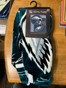 "Philadelphia Eagles NFL ""Touchback"" Plush Raschel Throw, Multi Color, 50"" x 60"""