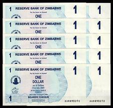 Zimbabwe 10 pcs x 1 Dollar 2006 / AA-prefix (consecutive), UNC (P-37)
