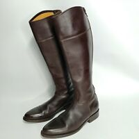 Gaia D'este 39 Riding Boots Leather Brown Tall Equestrian Size 8.5 Made in Italy