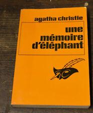 LIVRE AGATHA CHRISTIE HERCULE POIROT UNE MEMOIRE D ELEPHANT