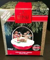 1992 Forest Frolics Hallmark Keep Sake Christmas Ornament Roly Poly Motion T89