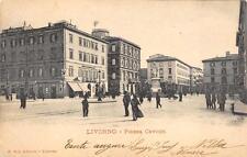3362) LIVORNO PIAZZA CAVOUR. ANIMATA, CARRETTO, VIAGGIATA.