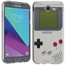 for Samsung Galaxy J3 Prime(Retro GameBoy)Clear TPU gel skin phone case cover