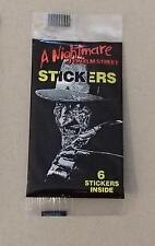 a Nightmare on Elm Street Trading Sticker Card Pack Vintage 1988 Kruger