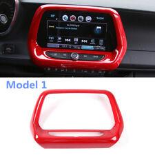 Red Interior Dashboard Navigation Cover Trim 1pcs For Chevrolet Camaro 2016-2020