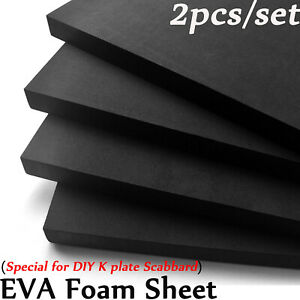 2X EVA Foam Sheet 13/25mm thick for DIY Knife KYDEX Scabbard Making K Plate Acc