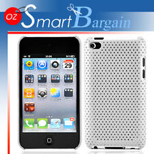 WHITE MESH Cover Case For iPod Touch 4G 4th Gen + Film