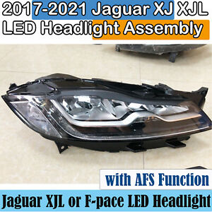 2017-2021 Jaguar XJL LED Headlight Assembly F-pace Headlamp One Pair Used