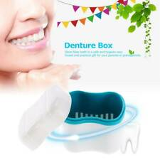 False Teeth Container Denture Box Storage Case Dental Cleaning Holder Box #SW1