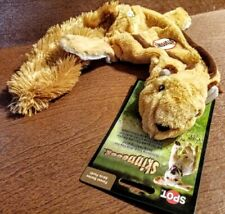 "Skinneeez Plush Squeaker Dog Toy 20"" NO STUFFING!~ Squirrel~ Brand New"